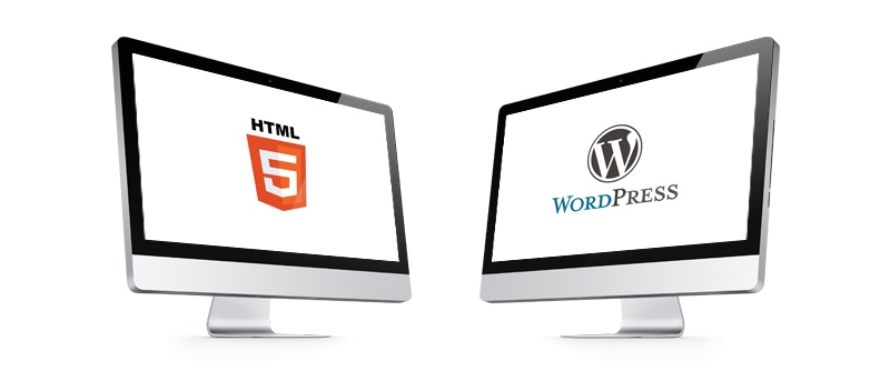 html vs WordPress